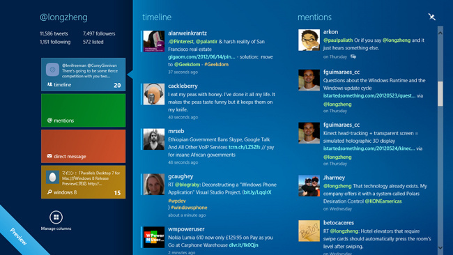 MetroTwit en Windows 8