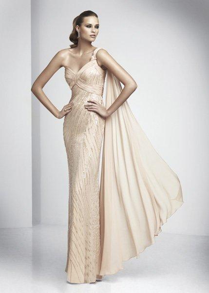 Vestidos de fiesta: colección de Pronovias 2012