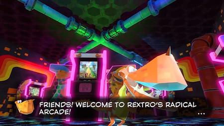 Primer gameplay del minijuego multiplayer de Yooka-Laylee llamado Glaciator