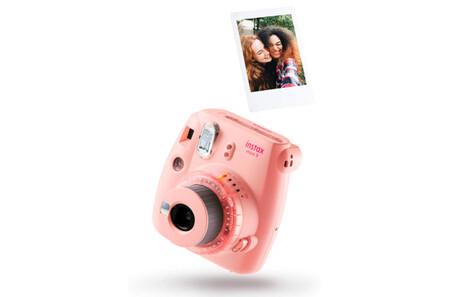 Camara Instantanea Fujifilm Instax Mini 9 Rosa Claro Carga 10 Fotos Copia