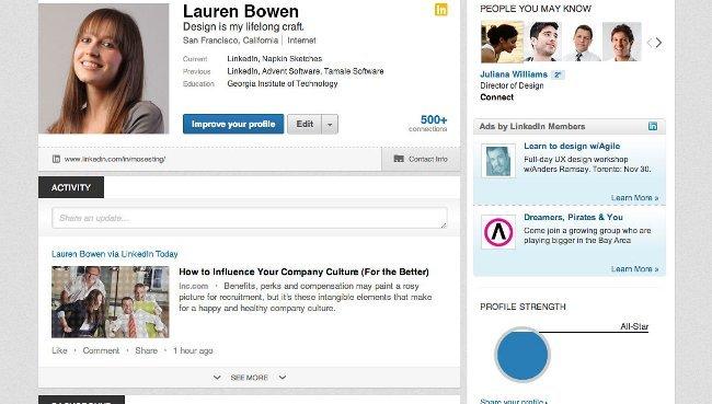 Linkedin actualizará el perfil de usuario con un aspecto más visual