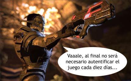 BioWare cambia el sistema de protección anticopia de 'Mass Effect'