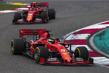 Vettel Leclerc Barcelona Test F1