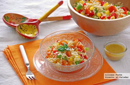 Receta de refrescante ensalada colorida de bulgur