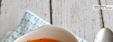 Sopa de calabaza y jitomate. Receta