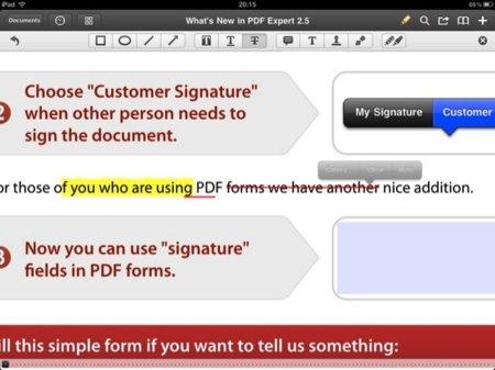 Tipos de subrayado e inclusión de firma