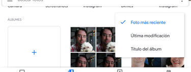 Google Photos: how to sort albums by date, title or last modified