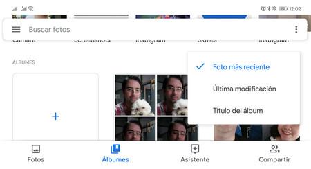 Google Fotos: cómo ordenar los álbumes por fecha, título o última modificación