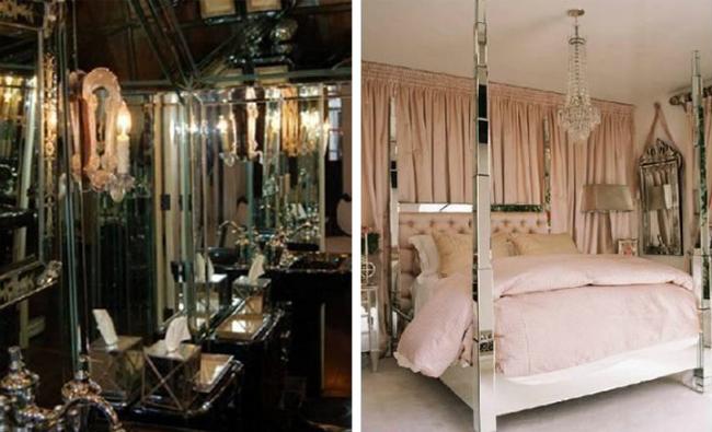 Baño y dormitorio de Paris Hilton