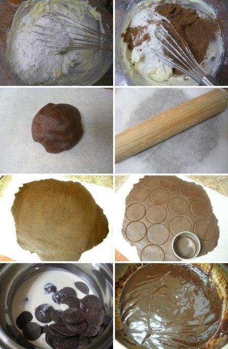 Elaboración de la receta de galletas rellenas de chocolate