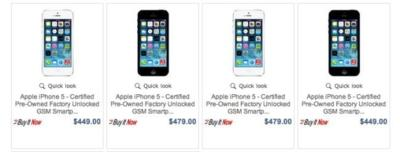 Apple se vuelve a aliar con eBay para ofrecer iPhone 5 restaurados