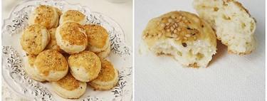 Mini scones con cobertura de parmesano y sésamo, receta con thermomix