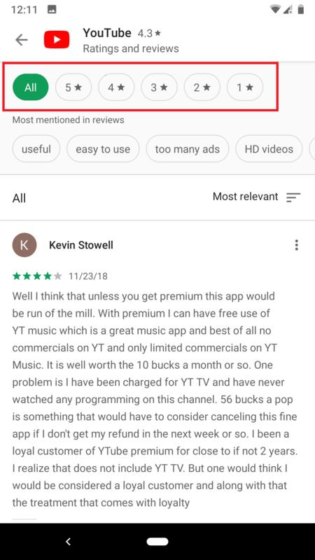 Google Play Estrelllas