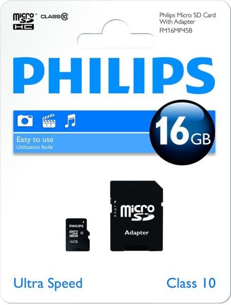 Tarjeta de memoria MicroSD 16GB Philips por 5,44 euros y envío gratis