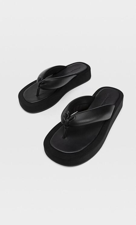 Sandalias flatform acolchadas