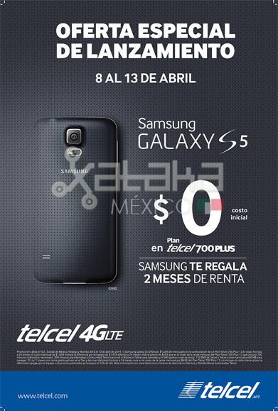 Promoción Galaxy S5 Telcel