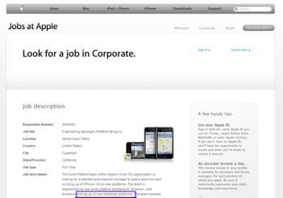 Apple podría plantearse abrir el iPhone OS a otras plataformas