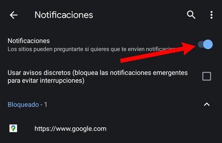 Notificaciones Google Chrome