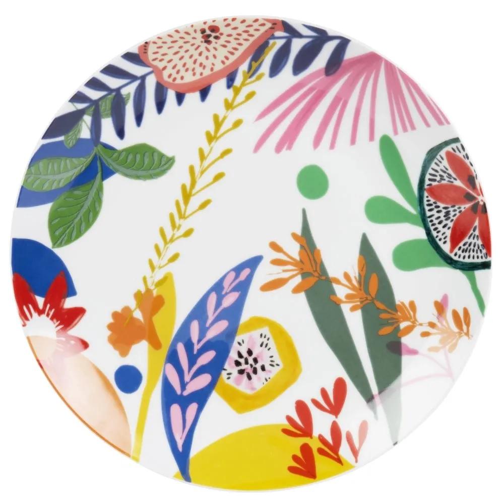 Platos de porcelana con estampado botánico