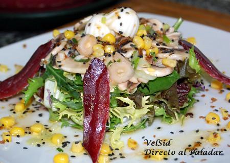 Ensalada con champiñones marinados [Receta]