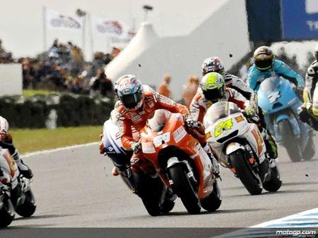 Nicky Hayden caida en Australia 2009
