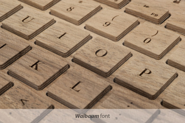 Oree Keyboard Font Walbaum 1024x1024