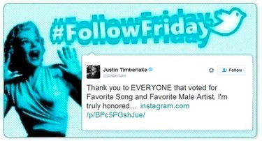 #FollowFriday de Poprosa: Lo mejor de los  People's Choice Awards se ve en las redes