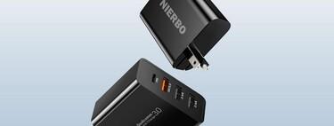 Este cargador tiene cuatro puertos USB incluyendo un tipo C de 30W, disponible en Amazon México por 399 pesos