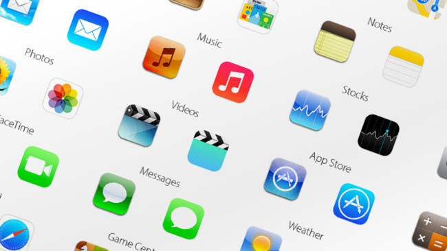 Iconos de iOS 6 vs iOS 7