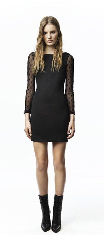 Negro vestido Zara Trafaluc colección octubre