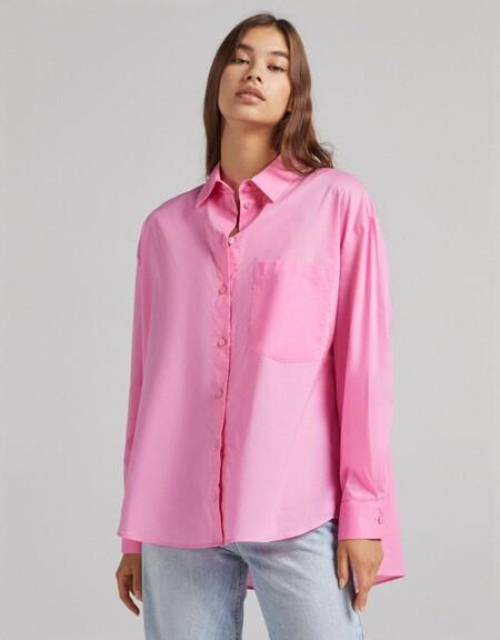 Camisa Manga Larga Oversize Bolsillo