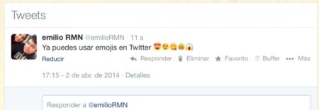 Ya están disponibles en versión web de Twitter los iconos emoji