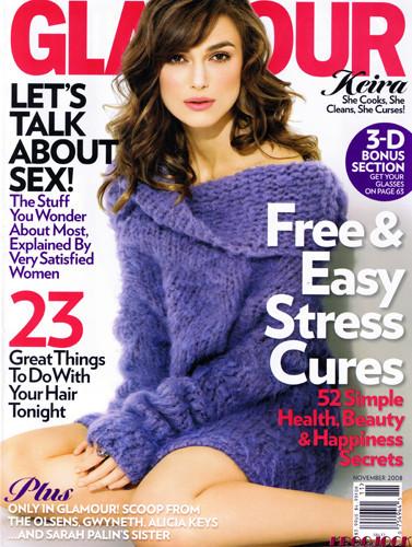 Keira Knightley en la Glamour USA de noviembre