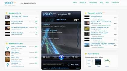 Yoink´d, reproductor online para vídeos de YouTube
