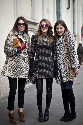 Las mujeres con estilo también visten de Zara, aunque Anna dello Russo prefiere a Victoria Beckham...