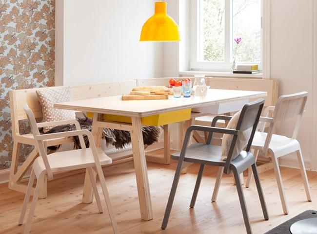 Buena o mala idea mesas de comedor de madera sin mantel for Comedores modernos para 4 personas
