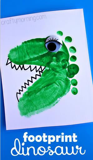 Manualidades Dinosaurios Huellas