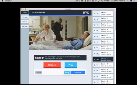 Caterpillar, una app multiplataforma que te ayuda a aprender un idioma mientras ves tu película favorita