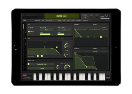 Korg lanza su famoso sintetizador M1 como aplicación para el iPad
