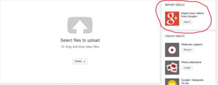 ¿Otra mala señal? Google nos permitirá importar a YouTube nuestros vídeos de Google+