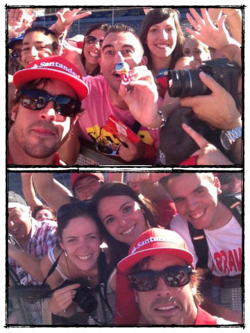 alonso and fans