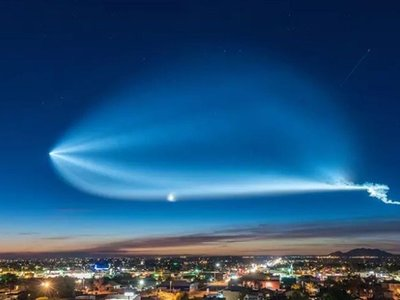 Alguien tuvo la grandiosa idea de hacer un timelapse del último lanzamiento de SpaceX y es de lo mejor que verán hoy