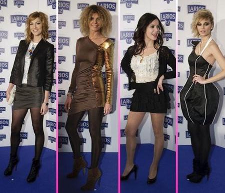 Los famosos presentan el calendario Larios 2010 con una fiesta