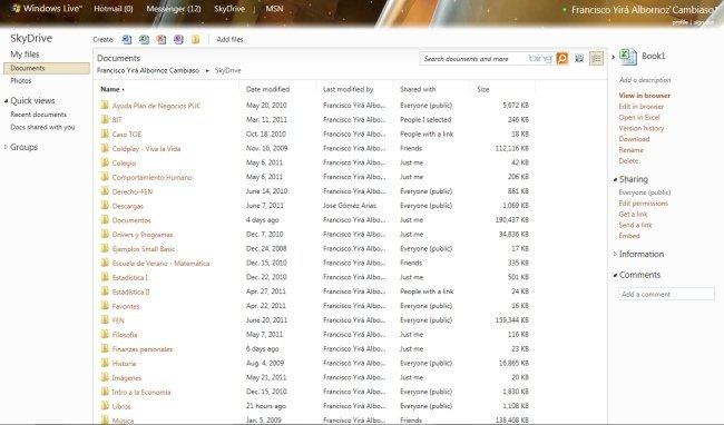 Archivos SkyDrive