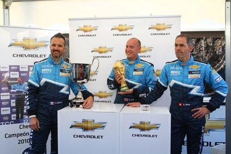 Chevrolet repetirá trío de pilotos en 2012