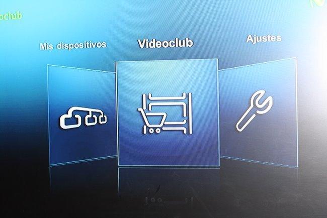 Imagenio videoclub menú principal