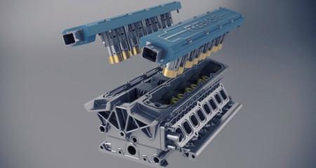 Koenigsegg motor sin arbol de levas