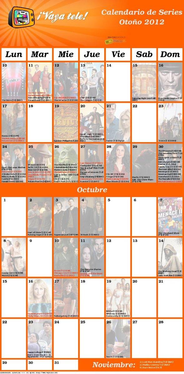 Calendario de series