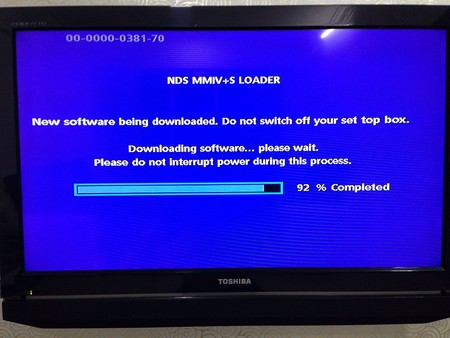Set Top Box Firmware Being Updated