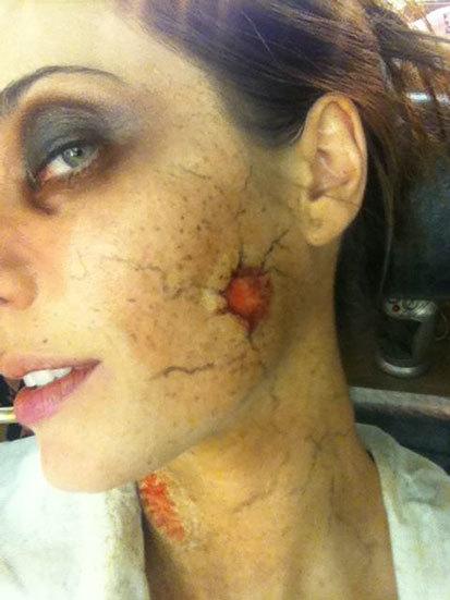 maquillaje de zombie de Pilar Rubio 4